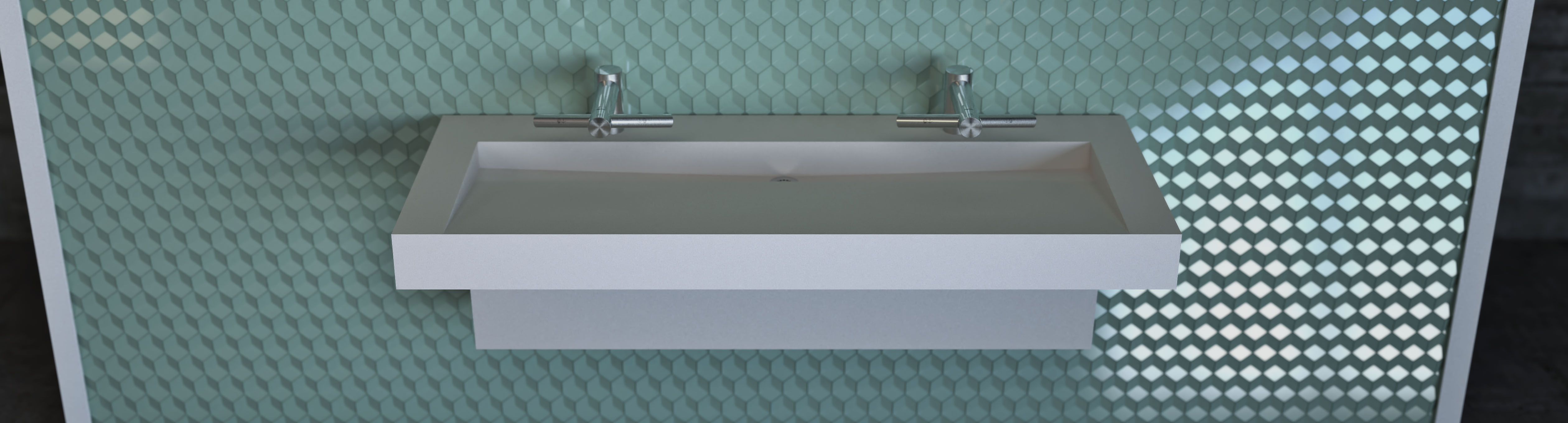 Commercial Trough Sink -Slant